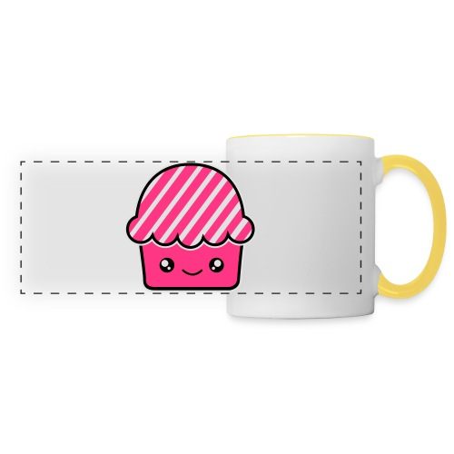 Smile Cupcake . Bolsa de tela ecológica - Taza panorámica