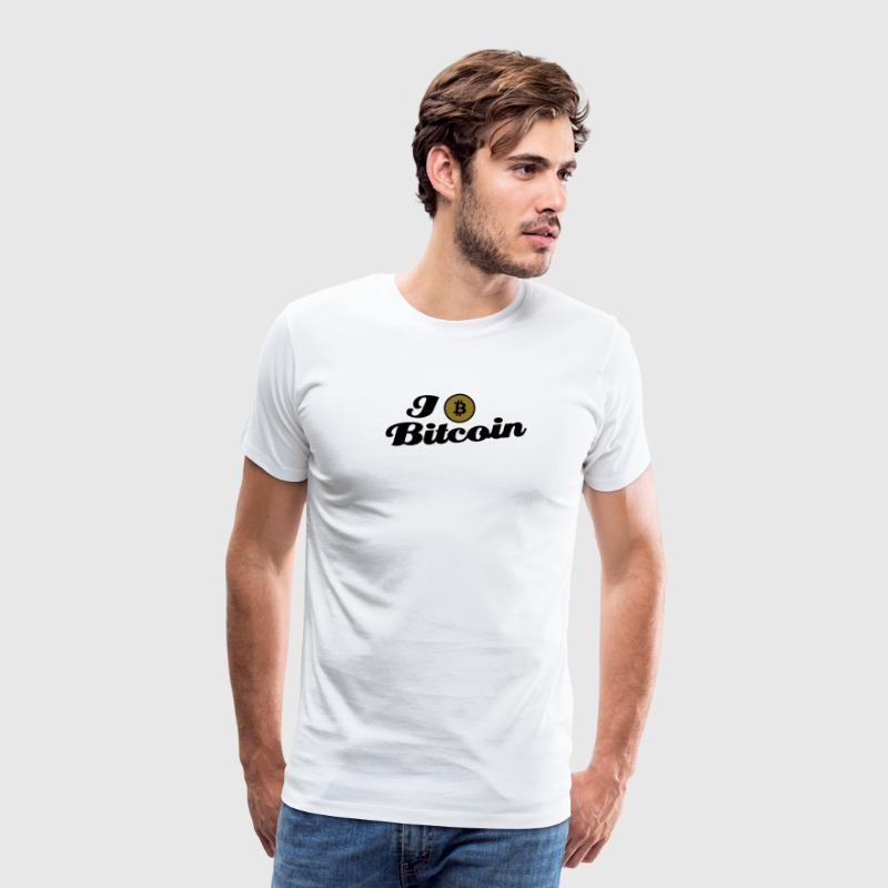 bitcoin, btc, i love Bitcoin T-Shirts - Men's Premium T-Shirt