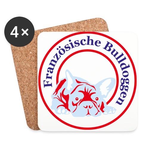 Bulldoggen Tasse - Untersetzer (4er-Set)