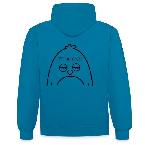 Pingouin Azerty - T-shirt de Geek - Sweat-shirt contraste