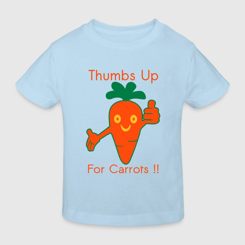 Happy Carrot Thumbs Up Tee shirts - T-shirt Bio Enfant