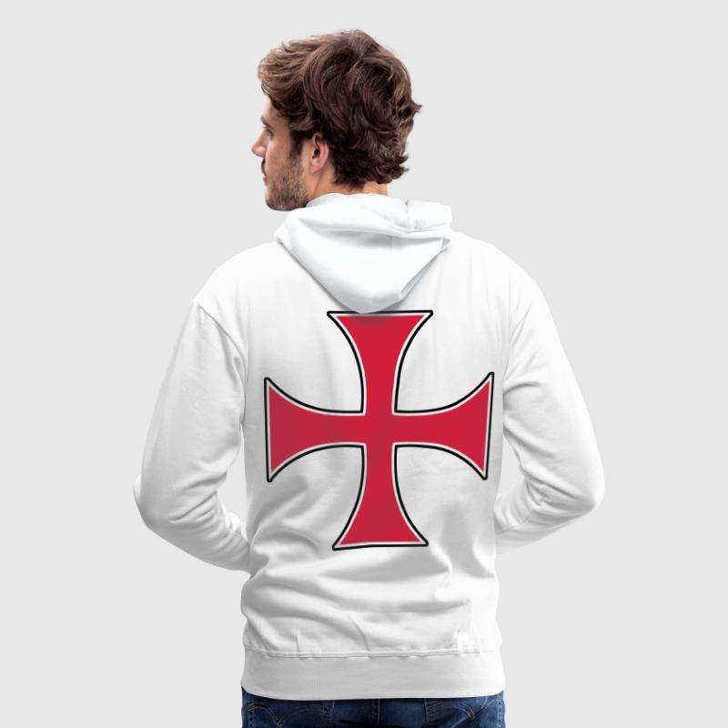 templar templiers croix cross Sweat-shirts - Sweat-shirt à capuche Premium pour hommes