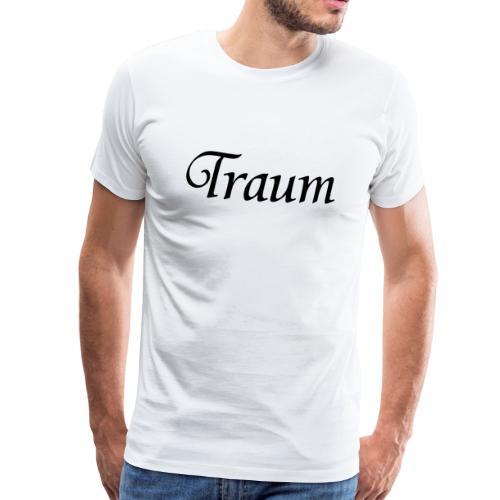 Traumpaar T-Shirt Traum Weiß/Schwarz - Männer Premium T-Shirt