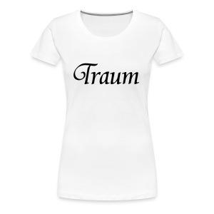 Traumpaar T-Shirt Traum Weiß/Schwarz - Frauen Premium T-Shirt