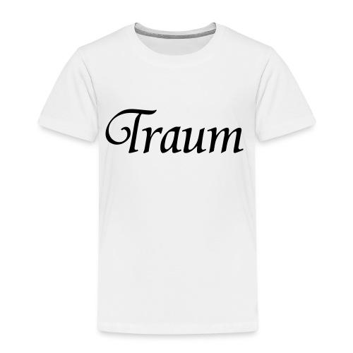 Traumpaar T-Shirt Traum Weiß/Schwarz - Kinder Premium T-Shirt