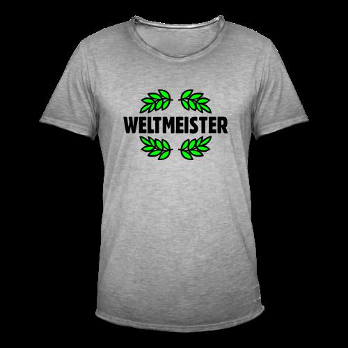 Weltmeister T-Shirt Gold - Männer Vintage T-Shirt
