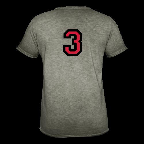 Nummer Drei 3 T-Shirt - Männer Vintage T-Shirt