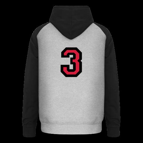 Nummer Drei 3 T-Shirt - Unisex Baseball Hoodie