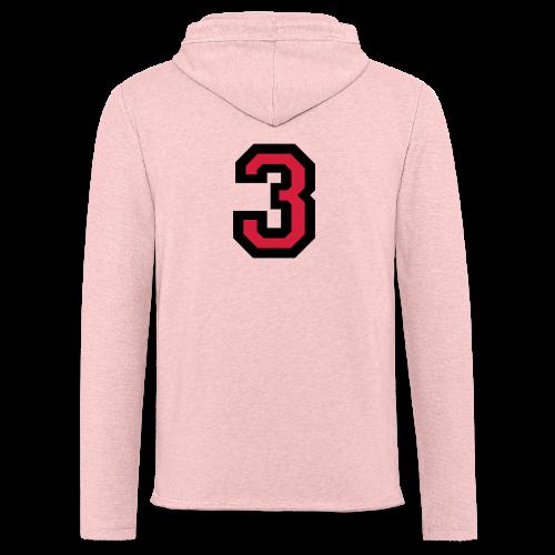 Nummer Drei 3 T-Shirt - Leichtes Kapuzensweatshirt Unisex