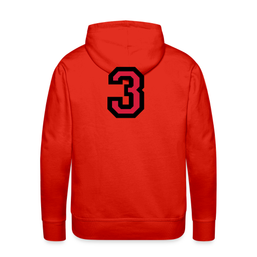 Nummer Drei 3 T-Shirt - Männer Premium Hoodie