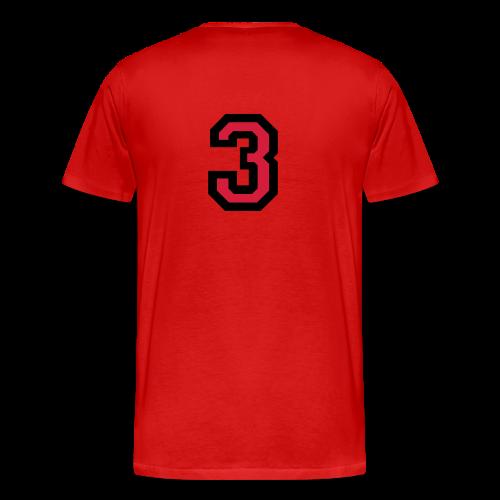 Nummer Drei 3 T-Shirt - Männer Premium T-Shirt
