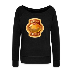 Stampy's Hot Buns - Child's T-shirt  - Women's Boat Neck Long Sleeve Top
