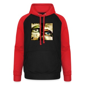 2Eyes2Faces by carographic @ jute Beutel  - Unisex Baseball Hoodie