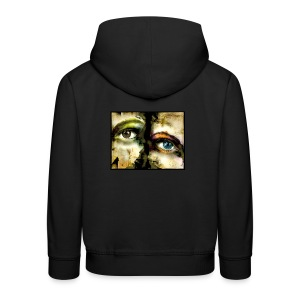 2Eyes2Faces by carographic @ jute Beutel  - Kinder Premium Hoodie