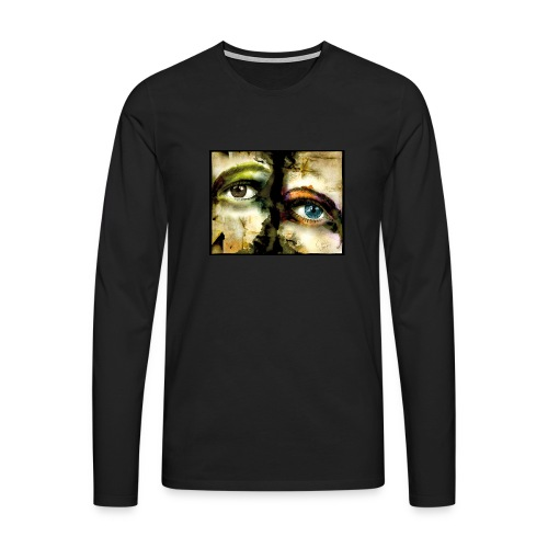 2Eyes2Faces by carographic @ jute Beutel  - Männer Premium Langarmshirt