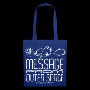 Message From Outer Space (white) - Stoffveske