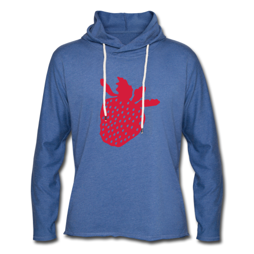 Erdbeershirt - Leichtes Kapuzensweatshirt Unisex