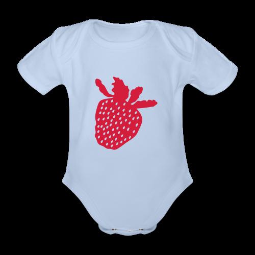 Erdbeershirt - Baby Bio-Kurzarm-Body