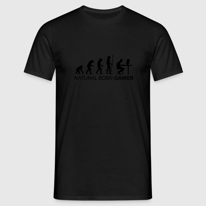 evolution_born_gamer1 T-shirts - T-shirt herr