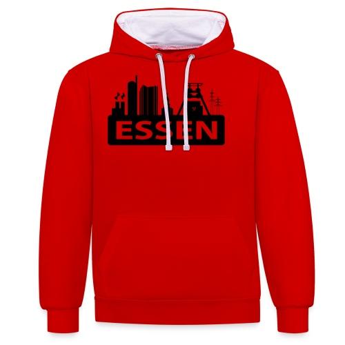 Skyline Essen - T-Shirt - Kontrast-Hoodie