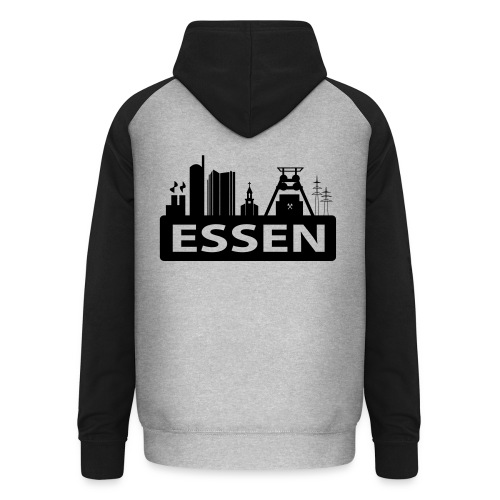 Skyline Essen - T-Shirt - Unisex Baseball Hoodie