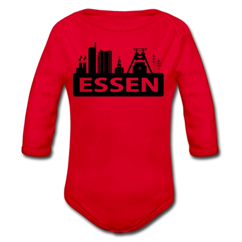 Skyline Essen - T-Shirt - Baby Bio-Langarm-Body