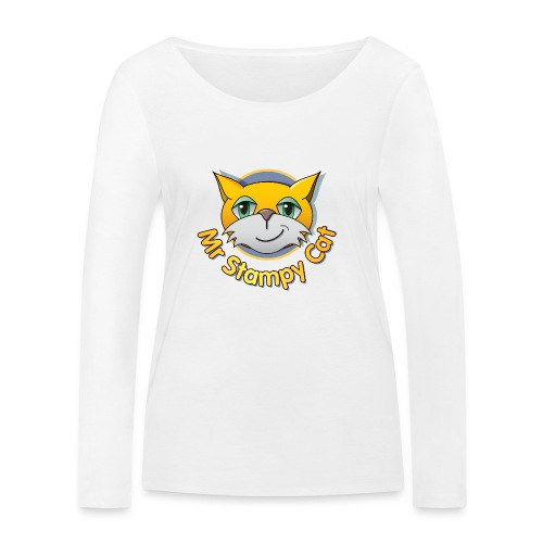 Mr. Stampy Cat - Teddy Bear - Women's Organic Longsleeve Shirt by Stanley & Stella