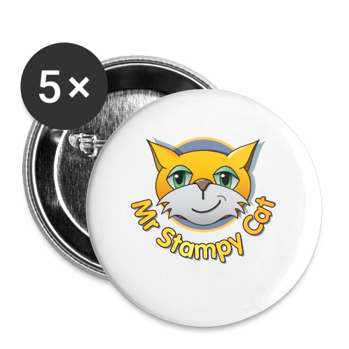 Mr. Stampy Cat - Teddy Bear - Buttons large 56 mm