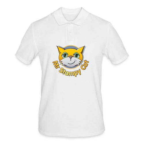 Mr. Stampy Cat - Teddy Bear - Men's Polo Shirt