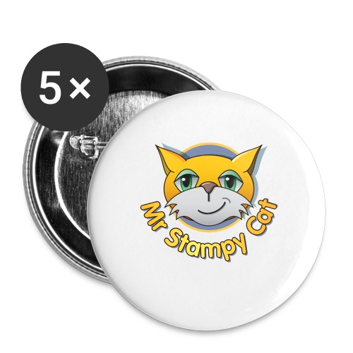 Mr. Stampy Cat - Teddy Bear - Buttons medium 32 mm