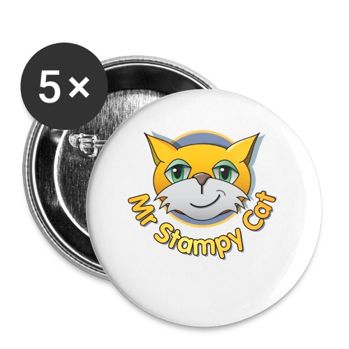 Mr. Stampy Cat - Teddy Bear - Buttons small 25 mm