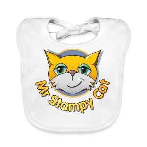 Mr. Stampy Cat - Teddy Bear - Baby Organic Bib