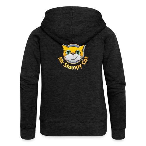 Mr. Stampy Cat - Teddy Bear - Women's Premium Hooded Jacket