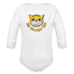 Mr. Stampy Cat - Teddy Bear - Organic Longsleeve Baby Bodysuit