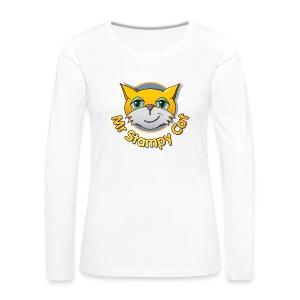 Mr. Stampy Cat - Teddy Bear - Women's Premium Longsleeve Shirt