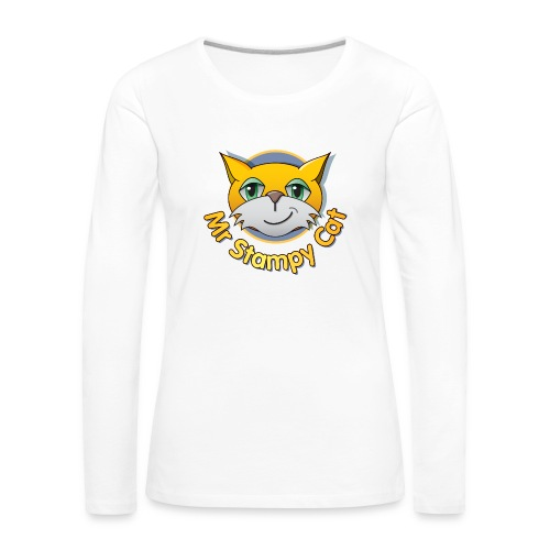 Mr. Stampy Cat - Teddy Bear - Women's Premium Longsleeve Shirt