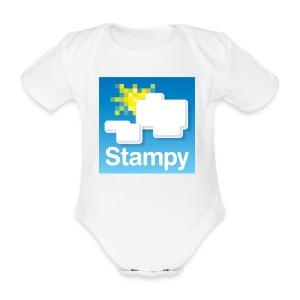 Stampy Logo - Child's T-shirt - Organic Short-sleeved Baby Bodysuit