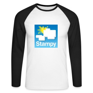 Stampy Logo - Men's T-shirt  - Men's Long Sleeve Baseball T-Shirt