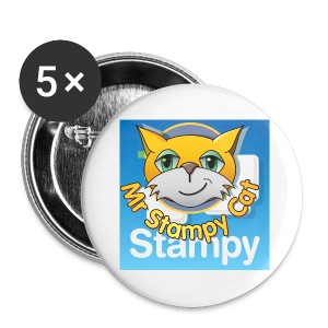 Mr. Stampy Cat - Badges  - Buttons small 25 mm