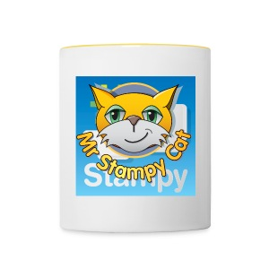 Mr. Stampy Cat - Badges  - Contrasting Mug