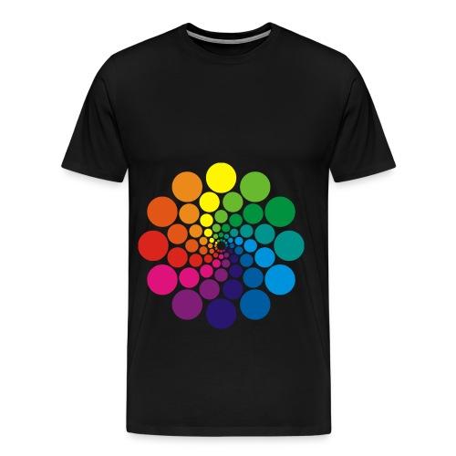 Farbkreis Power Punkte - Männer Premium T-Shirt