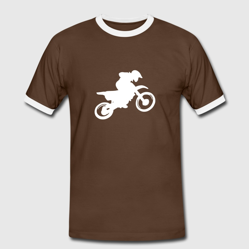 moto trial Tee shirts - T-shirt contraste Homme