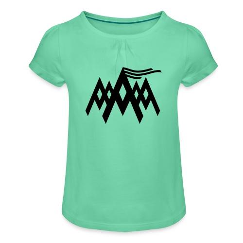 Alpen - Mädchen-T-Shirt mit Raffungen