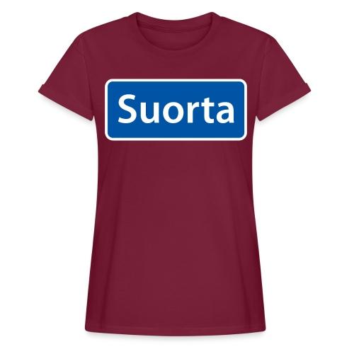 Suorta (Sortland) skilt - Oversize T-skjorte for kvinner