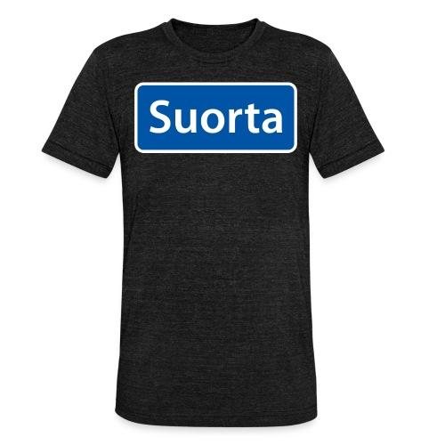 Suorta (Sortland) skilt - Unisex tri-blend T-skjorte fra Bella + Canvas