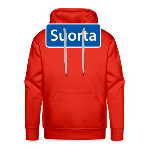 Suorta (Sortland) skilt - Premium hettegenser for menn