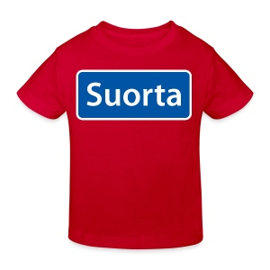 Suorta (Sortland) skilt - Økologisk T-skjorte for barn