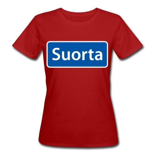 Suorta (Sortland) skilt - Økologisk T-skjorte for kvinner