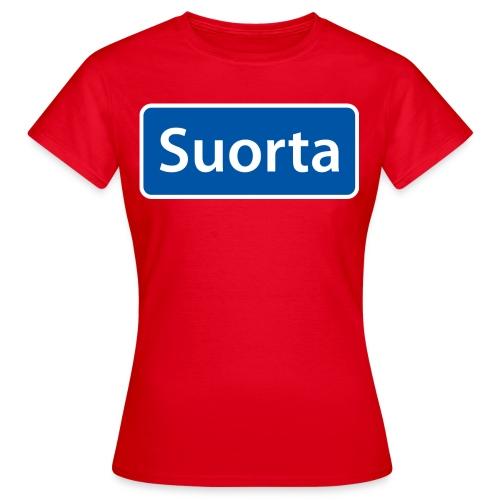 Suorta (Sortland) skilt - T-skjorte for kvinner