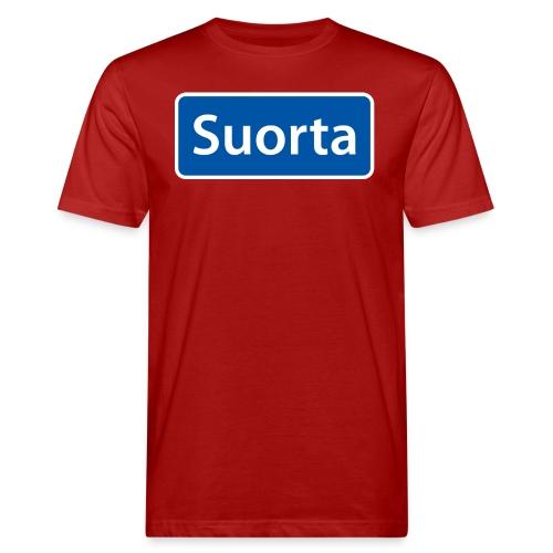 Suorta (Sortland) skilt - Økologisk T-skjorte for menn